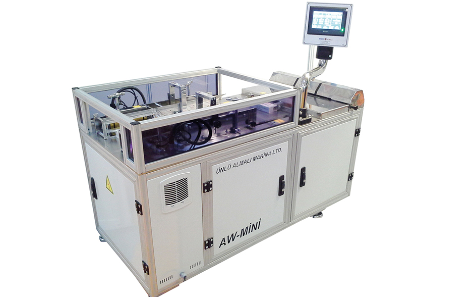 AW-MINI SEMI AUTOMATIC BOX OVER-WRAPPING MACHINE