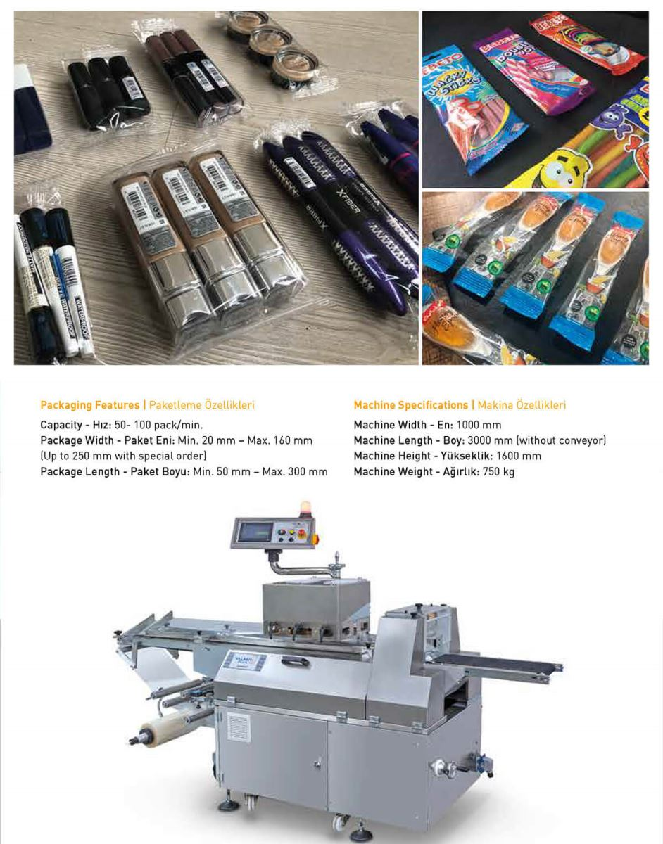 Fully Automatic Inverse Type Flow-Wrap Packaging Machine
